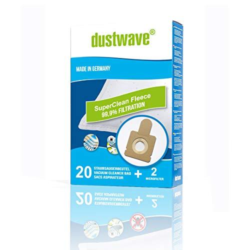 20Bolsas de aspiradora + 2filtro adecuado para Hoover Freespace TF 4100.4199, Freespace TFS 5100.5299, Freespace Evo TFV 1400.2699, Sprint TW 1500.1999, Flash TF 1600.2999, Capture TCP 1600.2499