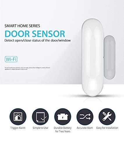 IFITech WiFi Door, Window cabinets & Drawers Sensor, Smart Security Alarm Doorbell Magnet Contact Sensor with App for Home/Office- Burglar Alert - New Smart Home Range
