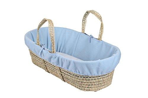 Clair de lune Fleece Liner/compresa para Moses/cesta de mimbre, color azul