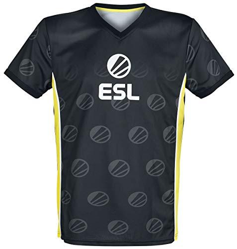 ESL E-Sport Männer T-Shirt schwarz S 100% Polyester Esports, Fan-Merch, Gaming