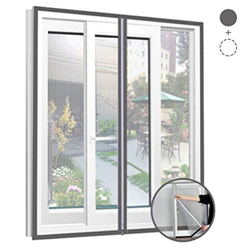 QIANC Magnetisch vliegengaas voor ramen, scheidingswand, muggennet, kan op maat worden gesneden, eenvoudig te installeren zonder boren