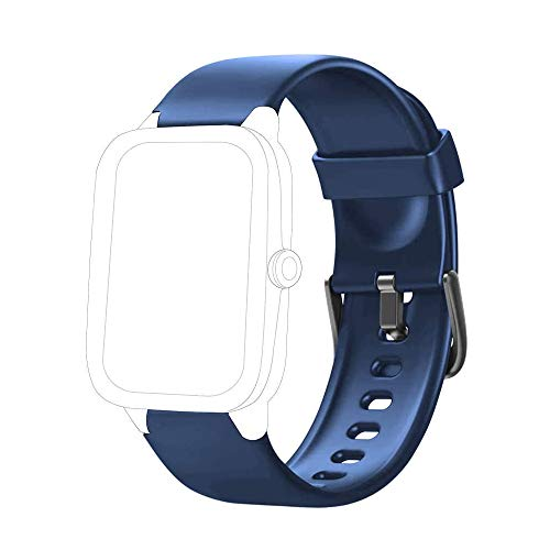 Yishark Pulseras de Repuesto para Fitness Tracker Correa ID205 ID205L ID205S ID205U Correa Repuesto de Reloj Deportivo Inteligente Pulseras Actividad Contador Pasos Calorías Podometro (Azul)