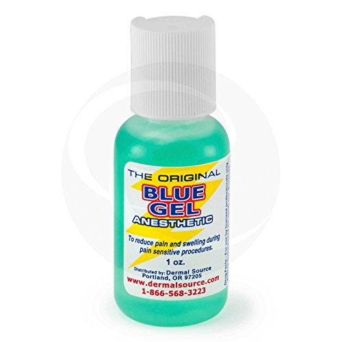 Lidocaine Blue Gel Tattoo Numbing Topical Anesthetic Cream Gel - 1 oz