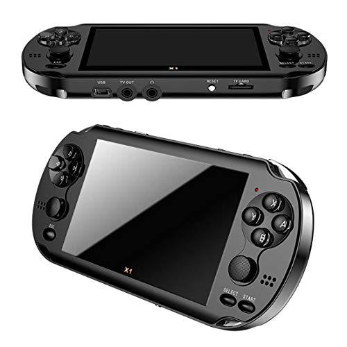 Console de Jeu Double Console 4,3 Pouces PSP HD MP5 Multiples Simulateurs, la Puce Plus Puissante, Prenant en Charge des Milliers Jeux, Extension Carte 64G TF,Black