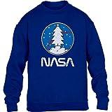 Shirtgeil Space NASA - Maglia Natalizia, Idea Regalo Maglione per Bambini e Ragazzi 12-14 Anni Blu