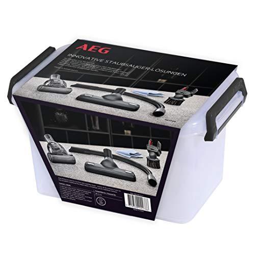 AEG AKIT09 Erweiterungsset (Staubsaugerdüsen, Zubehör, ideal für Allergiker und Haustierbesitzer, Entfernung von Tierhaaren, Hausstaub und Milben, für 32 mm Rundrohr Sauger, Aufbewahrungsbox, schwarz)