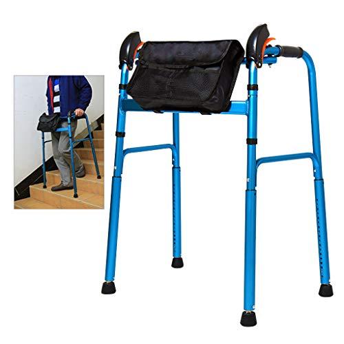 Andadores de escaleras para Personas Mayores Inicio | Andador con Cesta de Tela | Walker Muletas Stick para discapacitados | Stockhalter Laufhilfe para Movilidad en el hogar y al Aire Libre