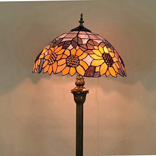 XUSHEN-HU Lámpara de pie decorativa de cristal de color para sala de estar, estudio, sol, estilo europeo, moderna (pantalla de color: ver tabla)