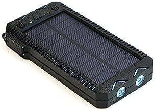iMeshbean Waterproof 15000mah Solar Power Bank Cigarette Lighter External Battery Charger (Black-Blue)