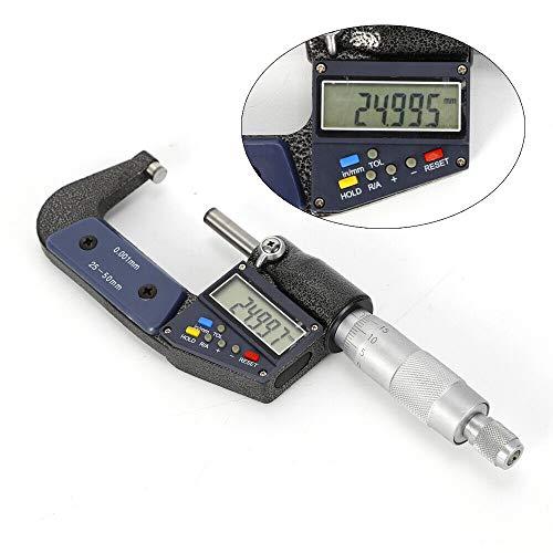 Digitaler Mikrometer HaroldDol 25-50mm Bügelmessschraube Messschraube Digitale Mikrometerschraube Messwerkzeug