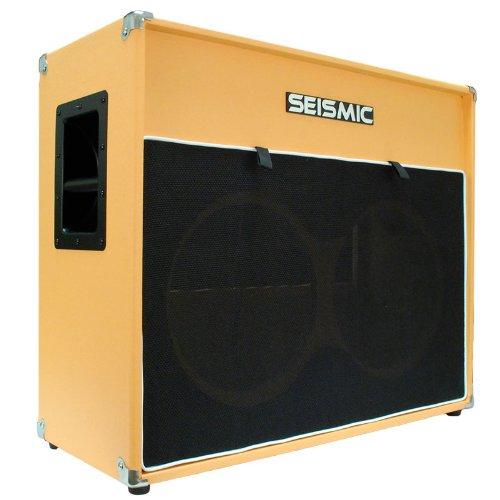 Seismic Audio - 2x12 GUITAR SPEAKER CABINET EMPTY - 7 Ply Birch - 12' Speakerless Cab - Vintage 212 - Orange Tolex - Black Cloth Grill - Front or Rear Loading Options
