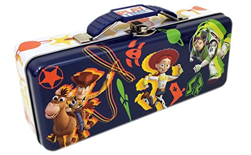 Toy Story 4 Tin Pencil Box with handle, hinge, clasp
