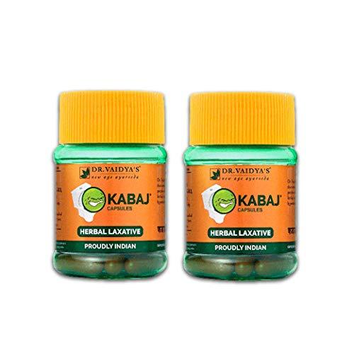 DR. VAIDYA'S Kabaj Capsules Ayurvedic Capsules for Constipation 30 Capsules (Pack of 2)
