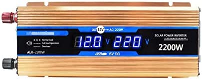 Max 69% OFF 500W 1200W 1600W 2200W Car Inverter Pow Solar Power Finally resale start