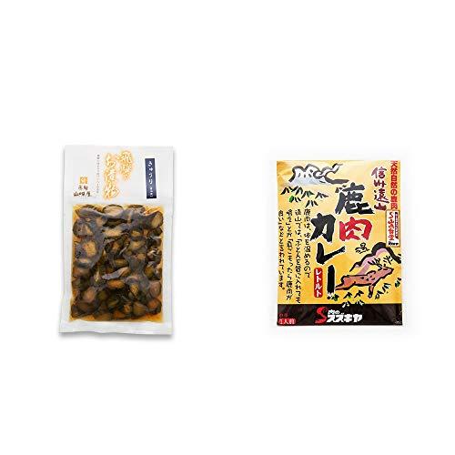 [2点セット] 飛騨山味屋 きゅうり醤油漬(150g) ・信州遠山 鹿肉カレー 中辛 (1食分)