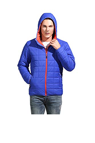 Amazon Marke: Eono Essentials Herren Thermo-Steppjacke, Blau, M