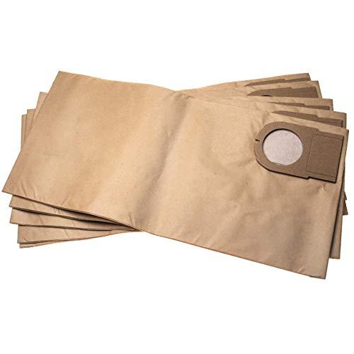 vhbw 5 bolsas papel compatible con Metabo AS 9010, ASA 9011 aspiradora 51.3cm x 24.1cm