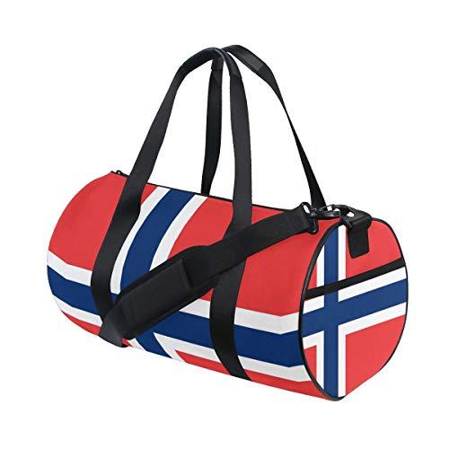 Eslifey Flag of Norway - Borse sportive da palestra, da viaggio, per uomo e donna
