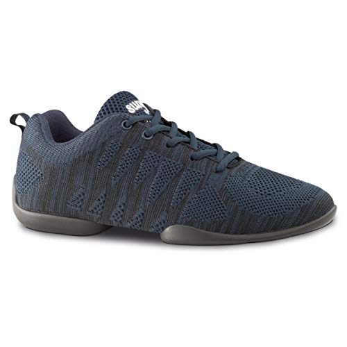 Anna Kern - Mujeres Dance Sneakers/Zapatos de Baile 130 Bold - Azul/Negro - Suela Sneaker [UK 4,5]