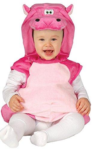 Fancy Me - Costume de Petit Hippopotame Rose pour bébé Fille - Rose, 12-24 Mois
