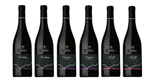 Confezione 6 bottiglie | 3 tipologie di Vino Rosso Trentino DOC: Lagrein | Teroldego | Merlot - Cantina Aldeno - Athesim Flumen