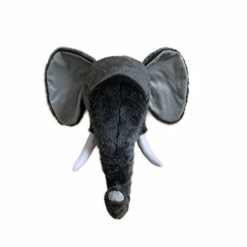 YYZZ Almohada de Felpa, diseño Creativo Elefante Animales Cabeza niños Dormitorio decoración Pared Colgar tapices Infantiles