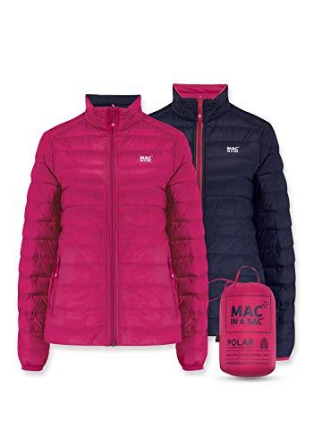 Mac in a Sac Polar-Daunenjacke Chaqueta de plumón, Mujer, Fucsia – Azul Oscuro, XX-Large