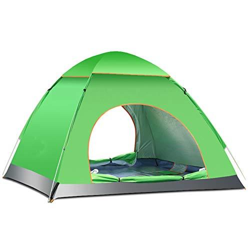 3-4 Personas Anti-UV Impermeable Pop Up Playa al aire libre Tienda de campaña (verde)
