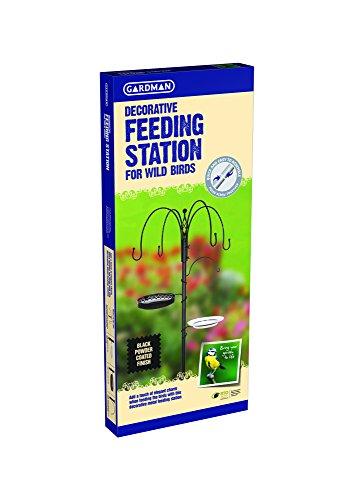 Gardman A04390 Decorative Feeding Station - Black-P