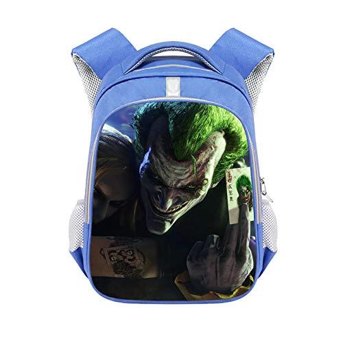 CJIUDI Character Cartoon Backpack,Student Backpack,Durable Unisex Rucksack,Large-Capacity Zipper Bag,with Headphone Jack,Unisex School Bag,Suitable for 15.6-Inch Laptops,Blue 09