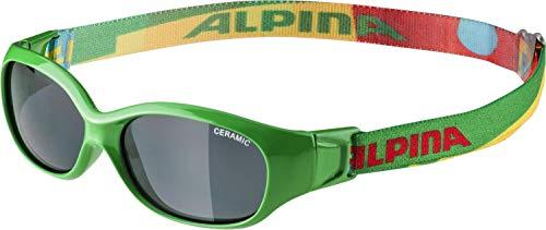 ALPINA Unisex - Kinder, SPORTS FLEXXY KIDS Sportbrille, green-puzzle gloss, One Size