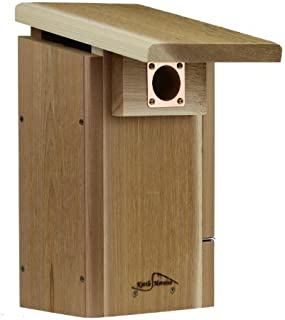 Kettle Moraine Cedar Super Eastern Bluebird House with Side Opening Viewing Window