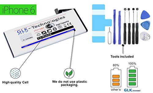 - 25% alleen korte tijd. Nieuwe levering Zuid-Korea-technologie!! Originele GLK-technologie-accu | 1810 mAh | geschikt voor Apple iPhone 6 | incl. gereedschapsset | geld terug garantie!