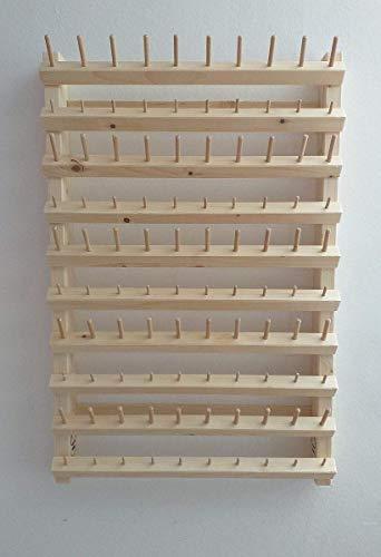 Kombinierter Garnrollen- und Spulenhalter aus Holz für die Wand!