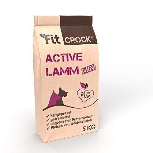 cdVet Fit-Crock Hundefutter trocken Active Lamm Mini 5 kg, getreidefrei