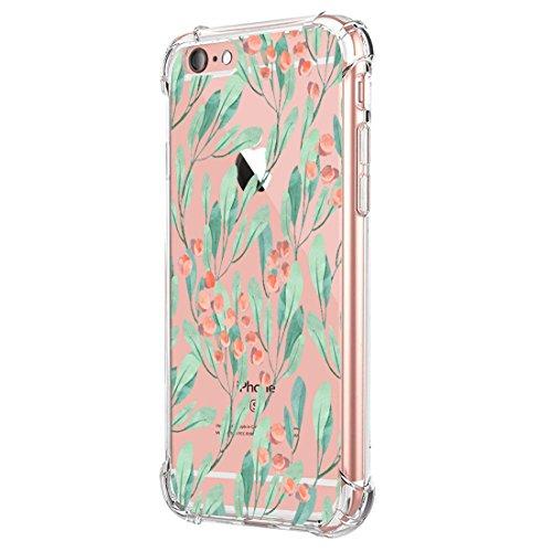 Funda Compatible con iPhone 6 6S Carcasa Silicona Transparente Protector TPU Airbag Anti-Choque Ultra-Delgado Case para Teléfono Apple iPhone 6/6S Caso Caja (iPhone 6/6S, B-Hombre)