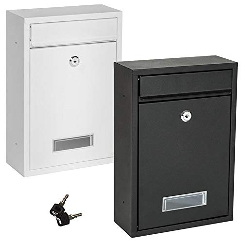 Metal Letterbox Suggestion Box For Kindergarten Parents Outdoor Letter Box With Lock Commercial Rural Home Decorative (Color : White, Size : 26.2x35x8.3cm)