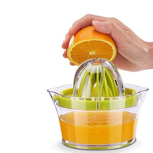 Tang Yuan Zitronensaftpresse,manuelle Saftpresse,Zitruspresse,Eiweißabscheider,Multifunktionssaftpresse,mit 400 ml Saftbehälter