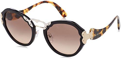 Preisvergleich Produktbild Prada Damen 0Pr09Ts 1Ab3D0 54 Sonnenbrille,  Schwarz (Black / Browngradientgrey)