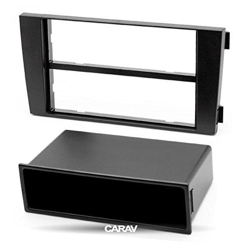 CARAV 11-002 1-DIN Marco de plástico para Radio para A6 (4B) 1997-2005, Allroad 2000-2006 with Pocket