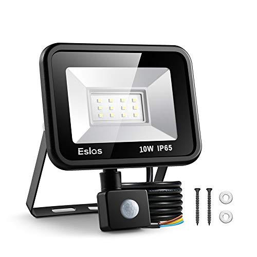 Eslas LED Floodlight Security Light with Motion Sensor,Outdoor Spotlight...