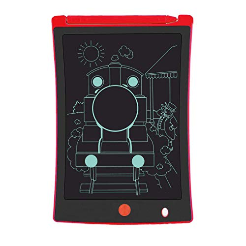 LCD Writing Tablet for Kids, 8.5-Inch Writing Board Doodle Board, Electronic Doodle Pads Drawing Writing Board Gift for Kids and Adults at Home,School and Office ?Red?