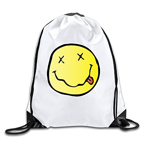 Inconnu Nirvana Band Logo Hindou Philosophie Cordon de Serrage Sac à Dos Sac Sac, Mixte, Blanc