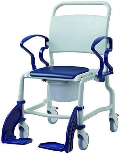Toiletten-Rollstuhl BOSTON 5&quot Räder, bis 150Kg, grau/ blau, Toilettenhilfen