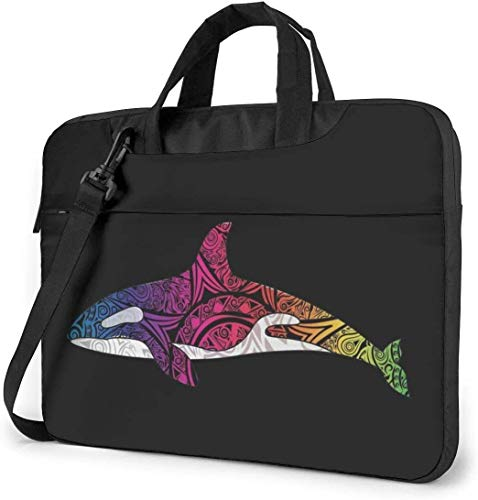 Orca Killer Whale Laptop Bag Shockproof Briefcase Shoulder Bags Carrying Case Laptop 15.6 Inch