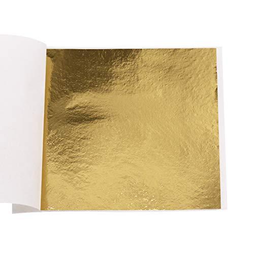 VGSEBA Imitation B Gold Blattgold 200 Stück 8x8.5cm Kunsthandwerk Kunstprojekt Möbel Gemälde Wand DIY