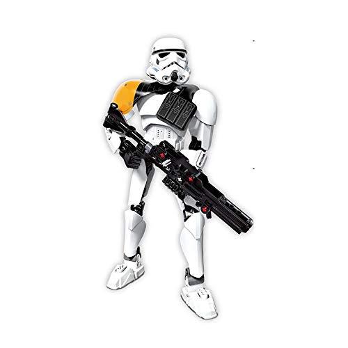 WUHAO Star Wars Montaje Robot Comandante Cody Building Block Decoration Art Modelo Modelo Modelo Movable Figura Estatua Colección Juguete 24,5 Cm