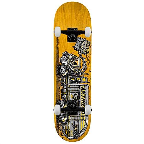 Anti Hero Taylor Curbside Service - Skateboard completo, 21 cm, colore: Giallo Grigio