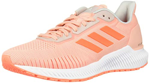 adidas Women's Solar Ride Running Shoe, Glow Pink/hi-res Coral/White, 9.5 M US