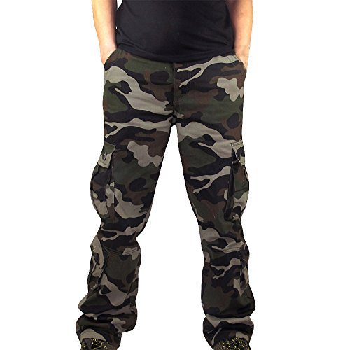 VPASS Pantalones para Hombre,Pantalones Casuales Camuflaje Moda Trabajo Pantalones Pants Jogging Pantalon Fitness Slim Fit Pantalones Largos Pantalones Ropa de Hombre Pantalones de Trekking